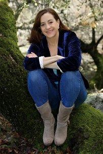 Joanell Serra going bareback in wine country